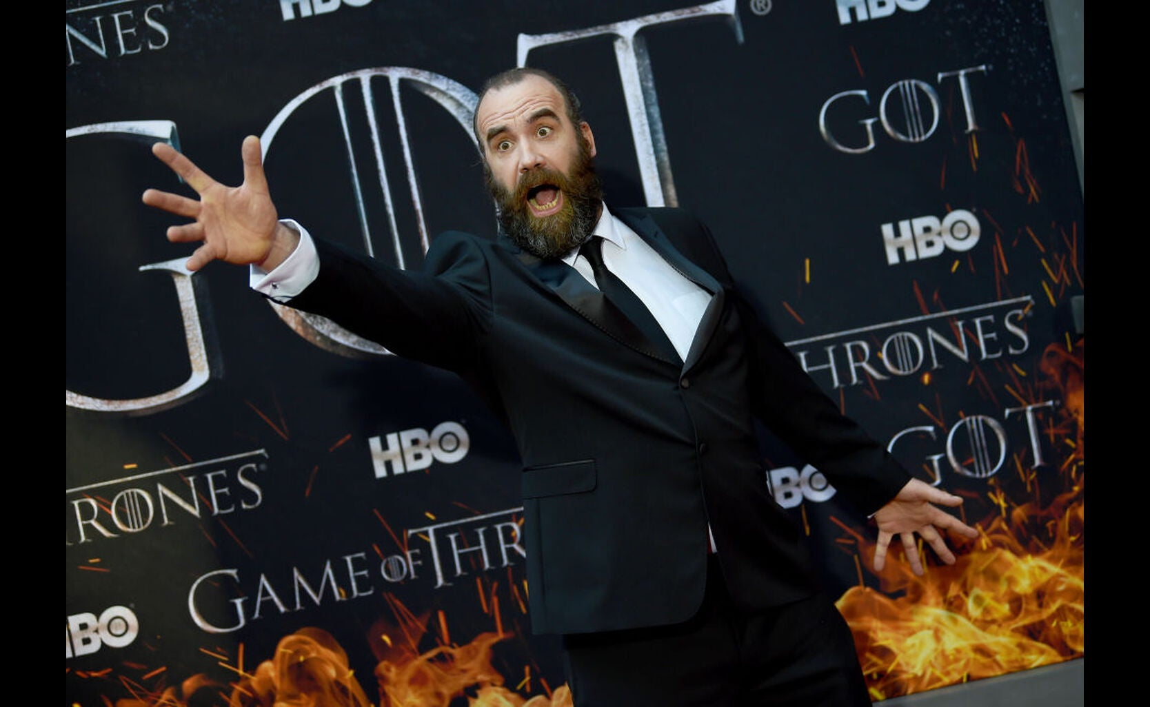 Rory McCann at the premiere of season 8 of Game of Thrones, 2019