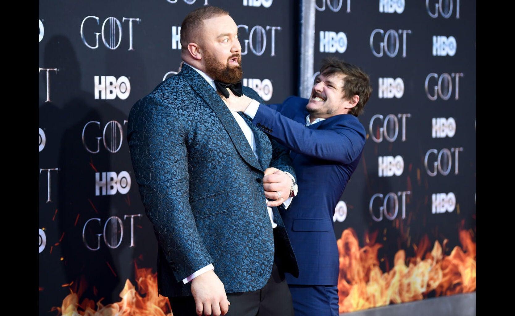 Hafþór Júlíus Björnsson at the premiere of s8 of Game of Thrones