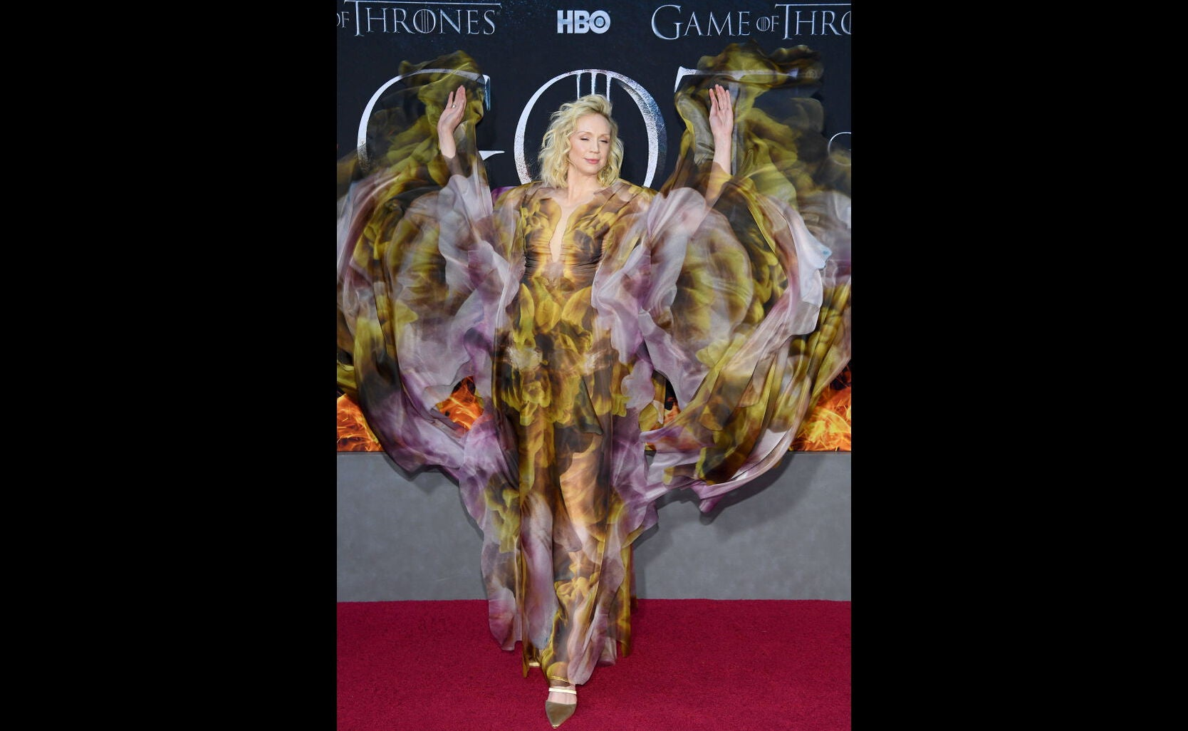 Gwedoline Christie at the premiere of Game of Thrones s8, 2019