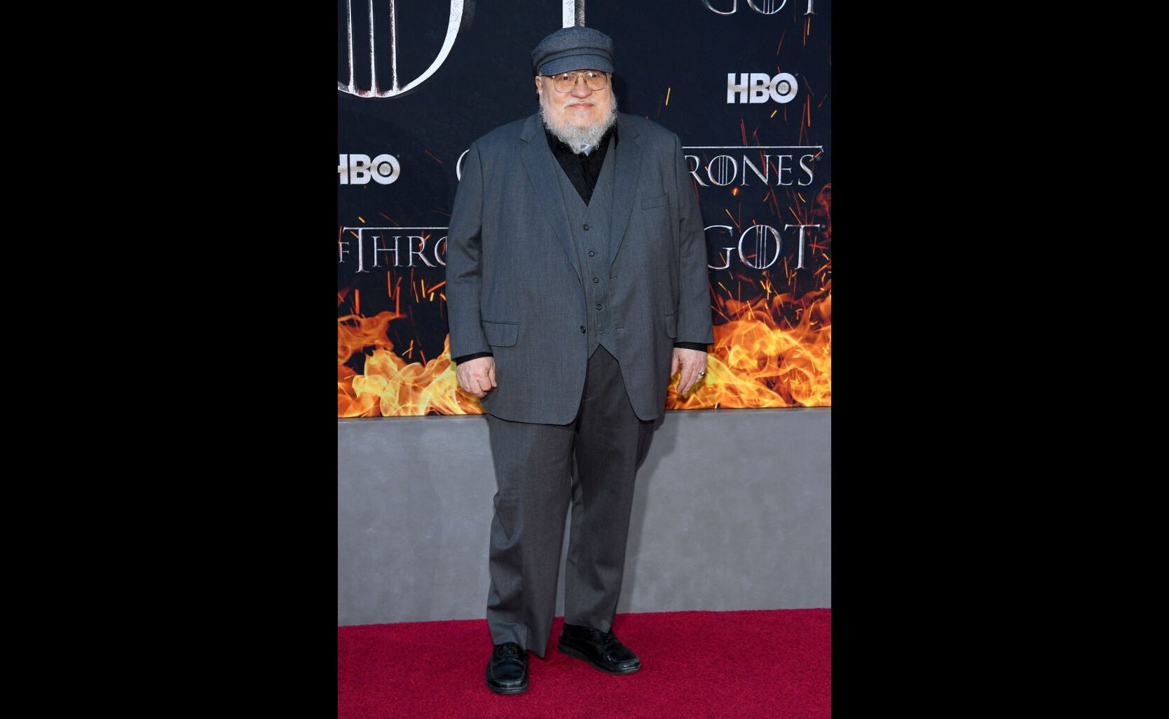 Author George R.R. Martin at premiere of Game of Thrones s8