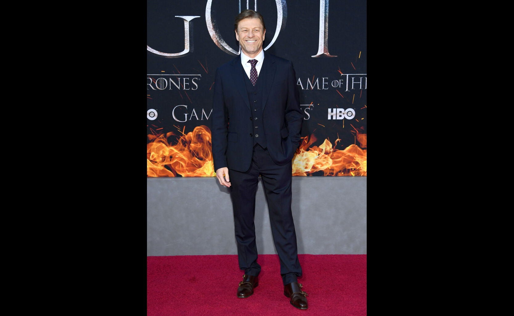 Sean Bean at the premiere of Game of Thrones, s8