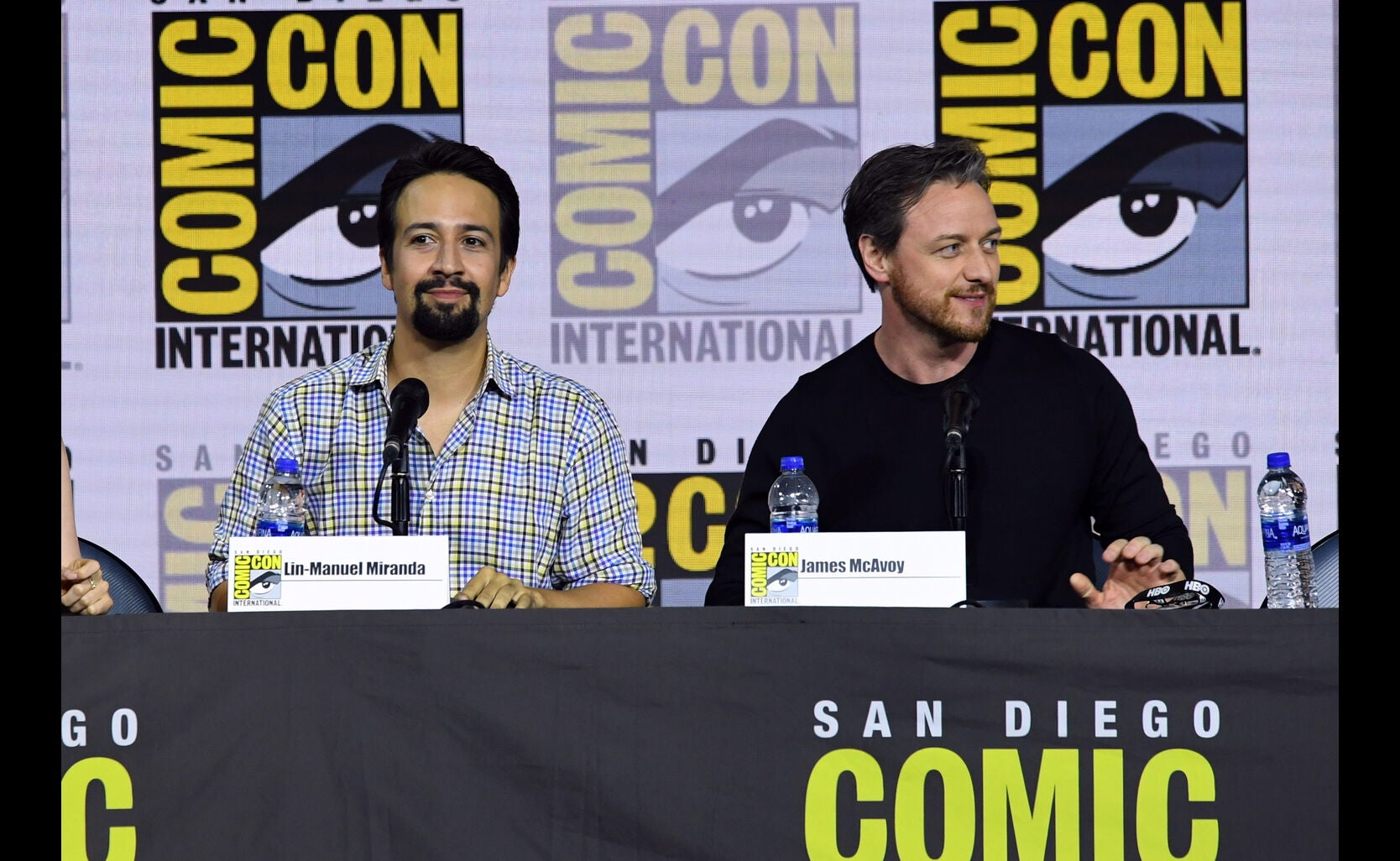 James McAvoy and Lin Manuel Miranda at SDCC2019