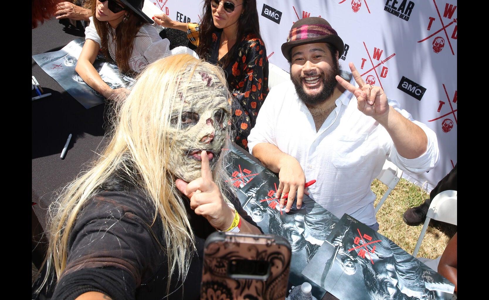Zombie fan at the 2019 Comic Con