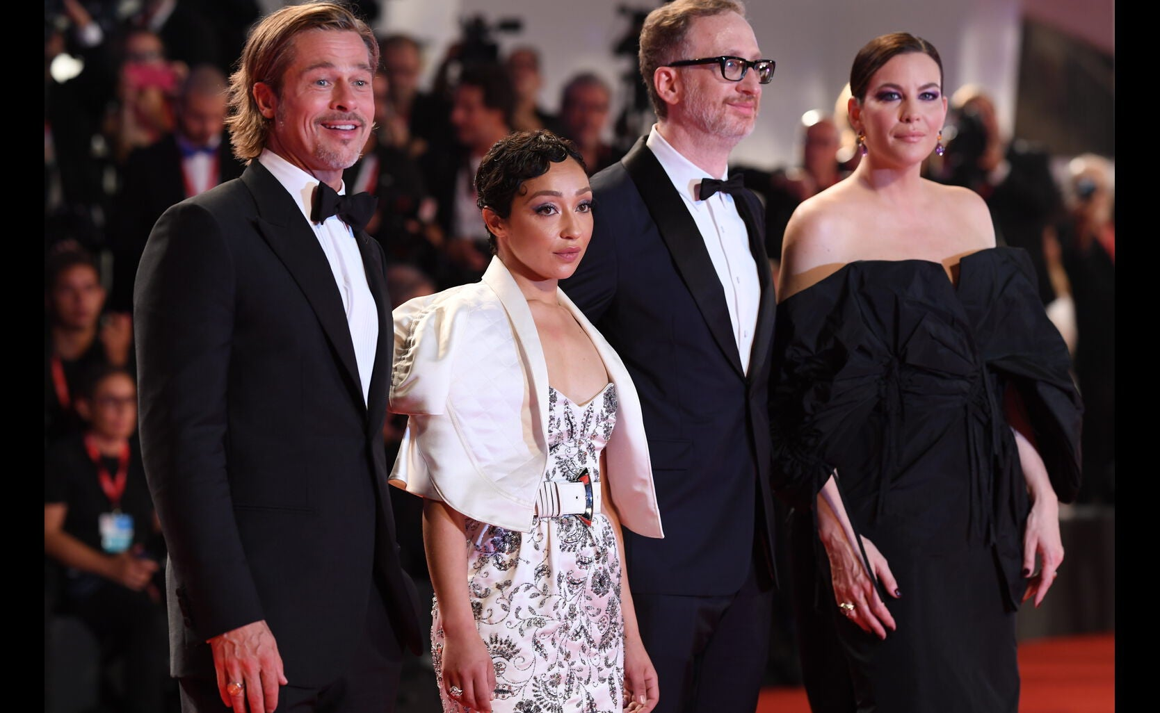 Cast and filmmaker of Ad Astra at Venice 2019
