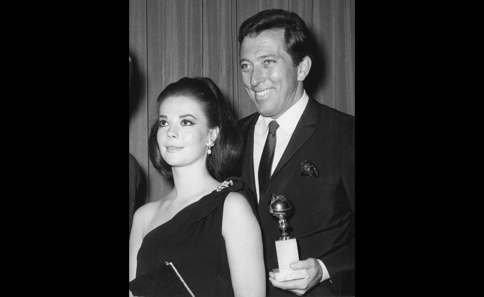 Host Andy Williams and World Female Film Favorite Natalie Wood, 1967