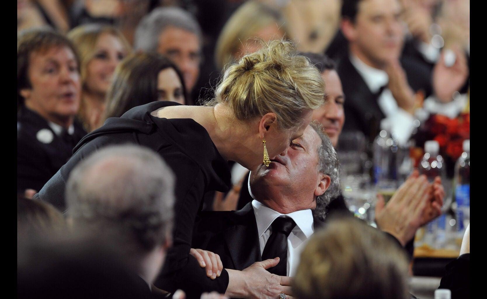 Actress Meryl Streep, Golden Globe winner, and husband Don Gummer