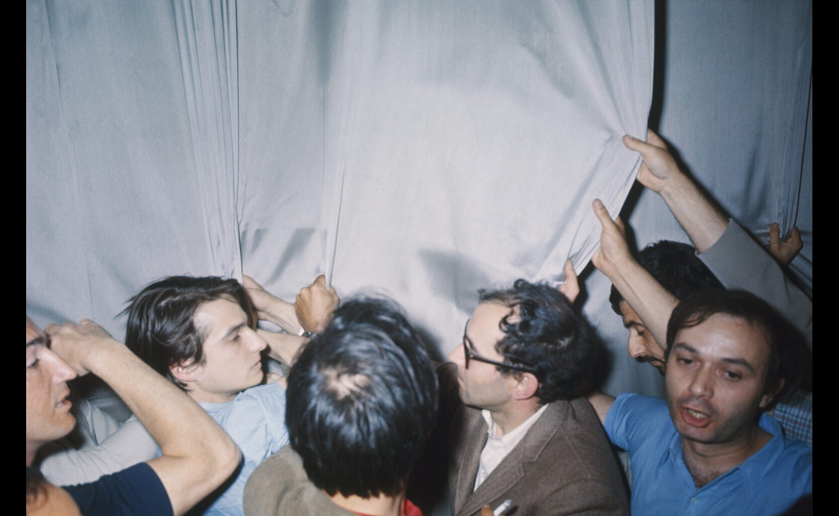 Godard, Leaud, protest at the 21st Cannes Film Festival