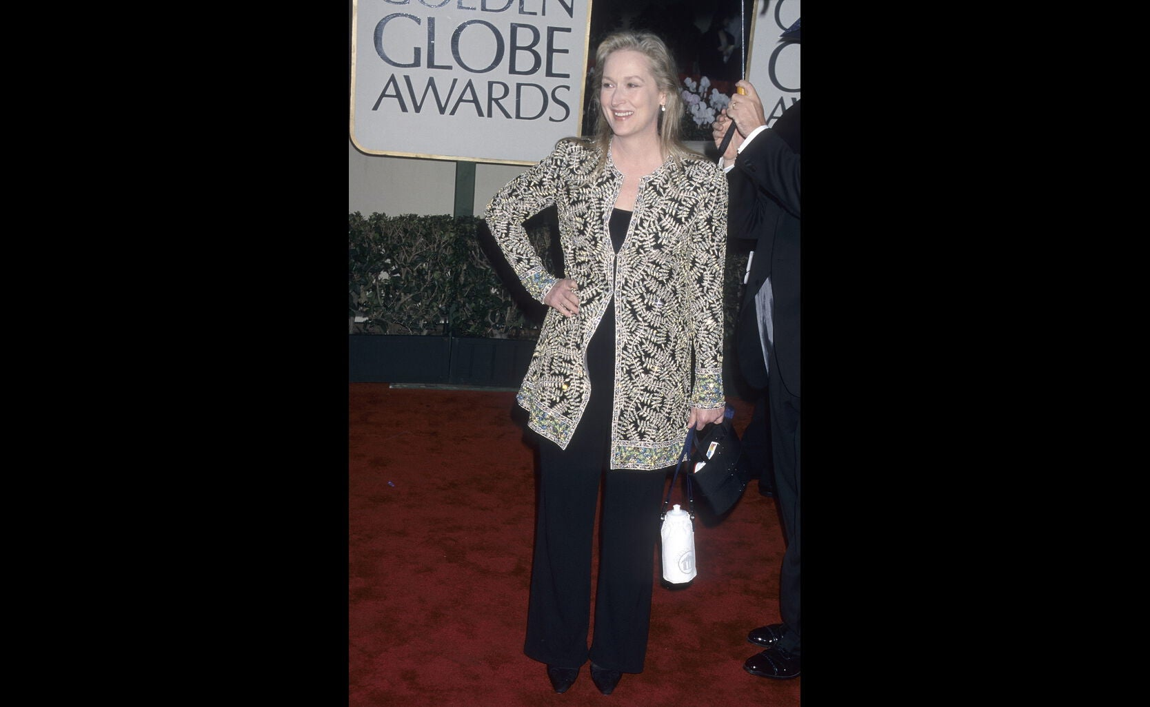 Actress Meryl Streep, Golden Globe winner, in 2000