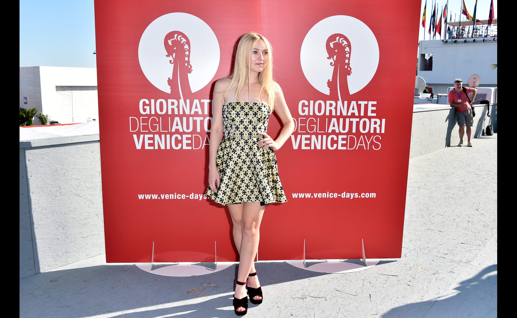Actress Dakota Fanning in Venice, 2016