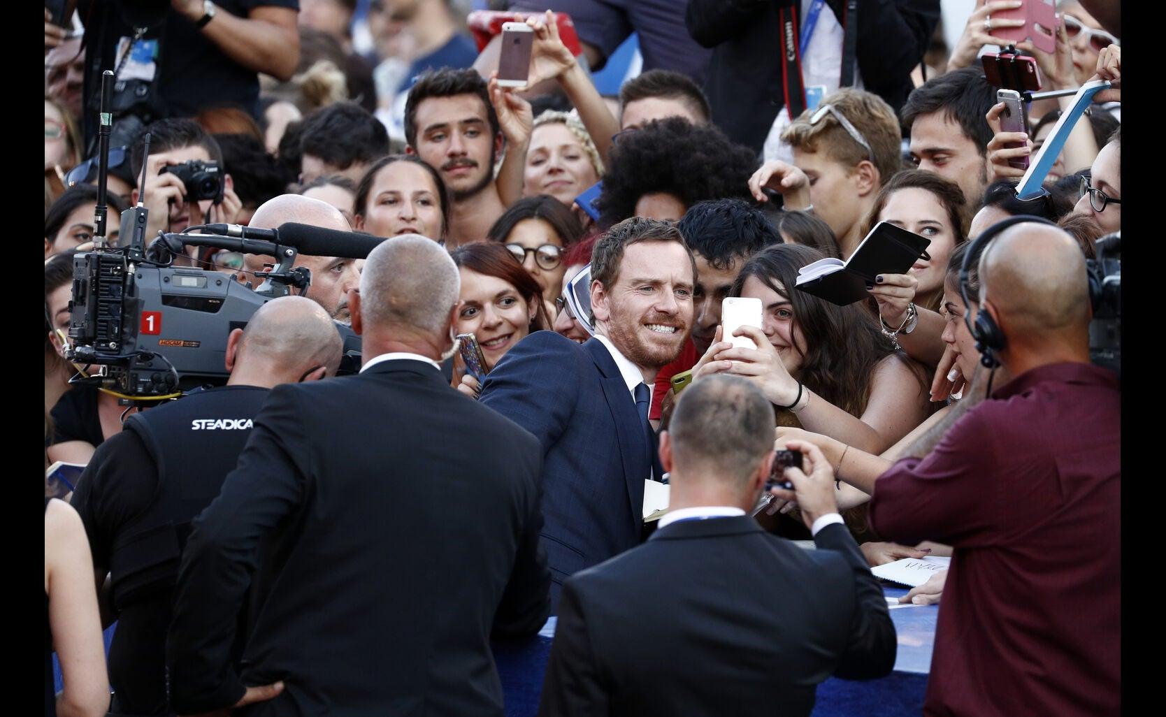 Actor Michael Fassbender, Golden Globe nominee, in Venice 2016