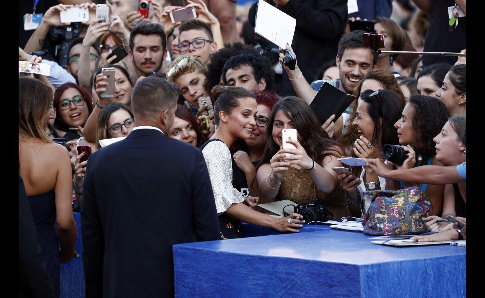 Actor Alicia Vikander, Golden Globe nominee, in Venice 2016