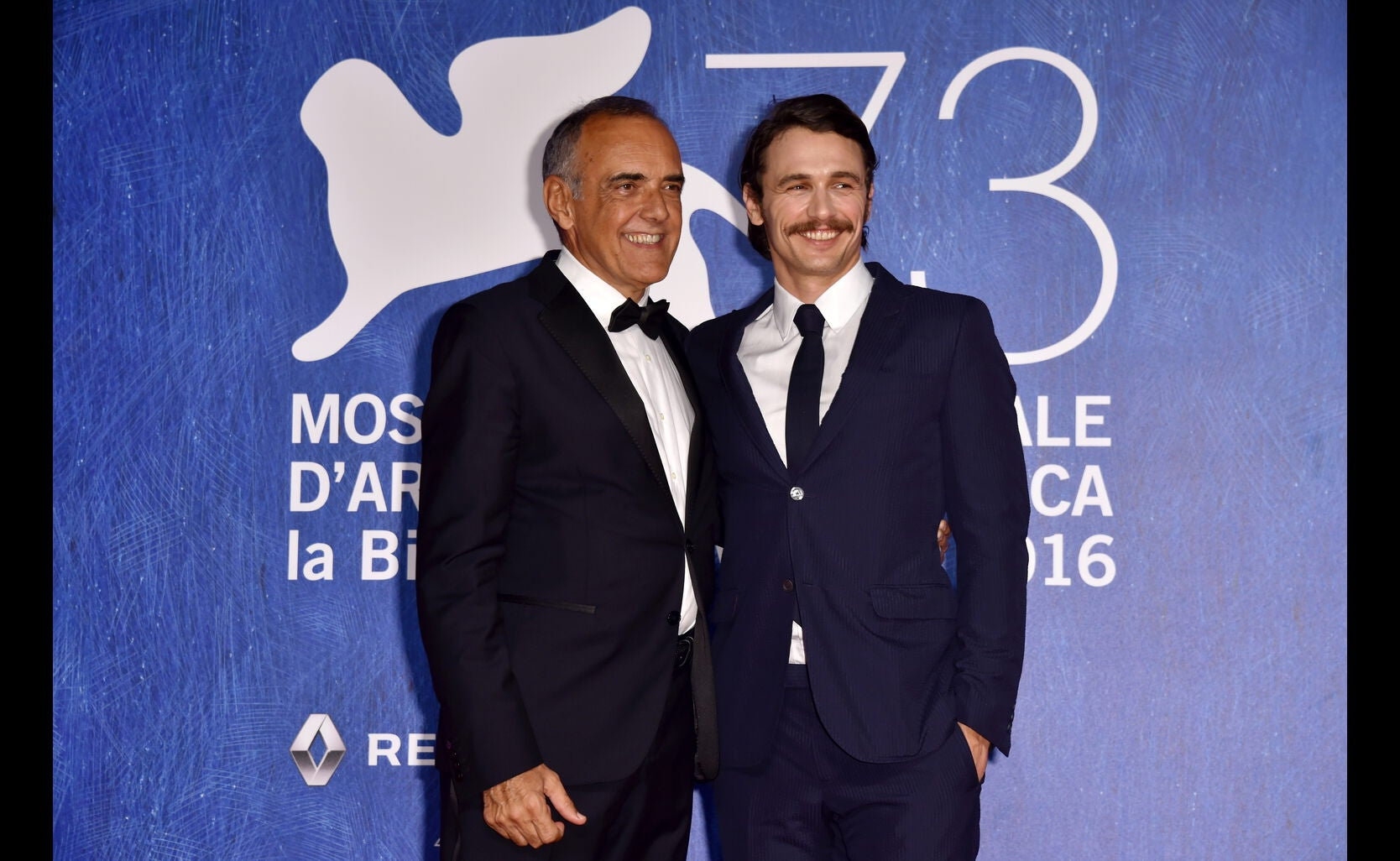 Actor-director James Franco and Venice Festival director Alberto Barbera