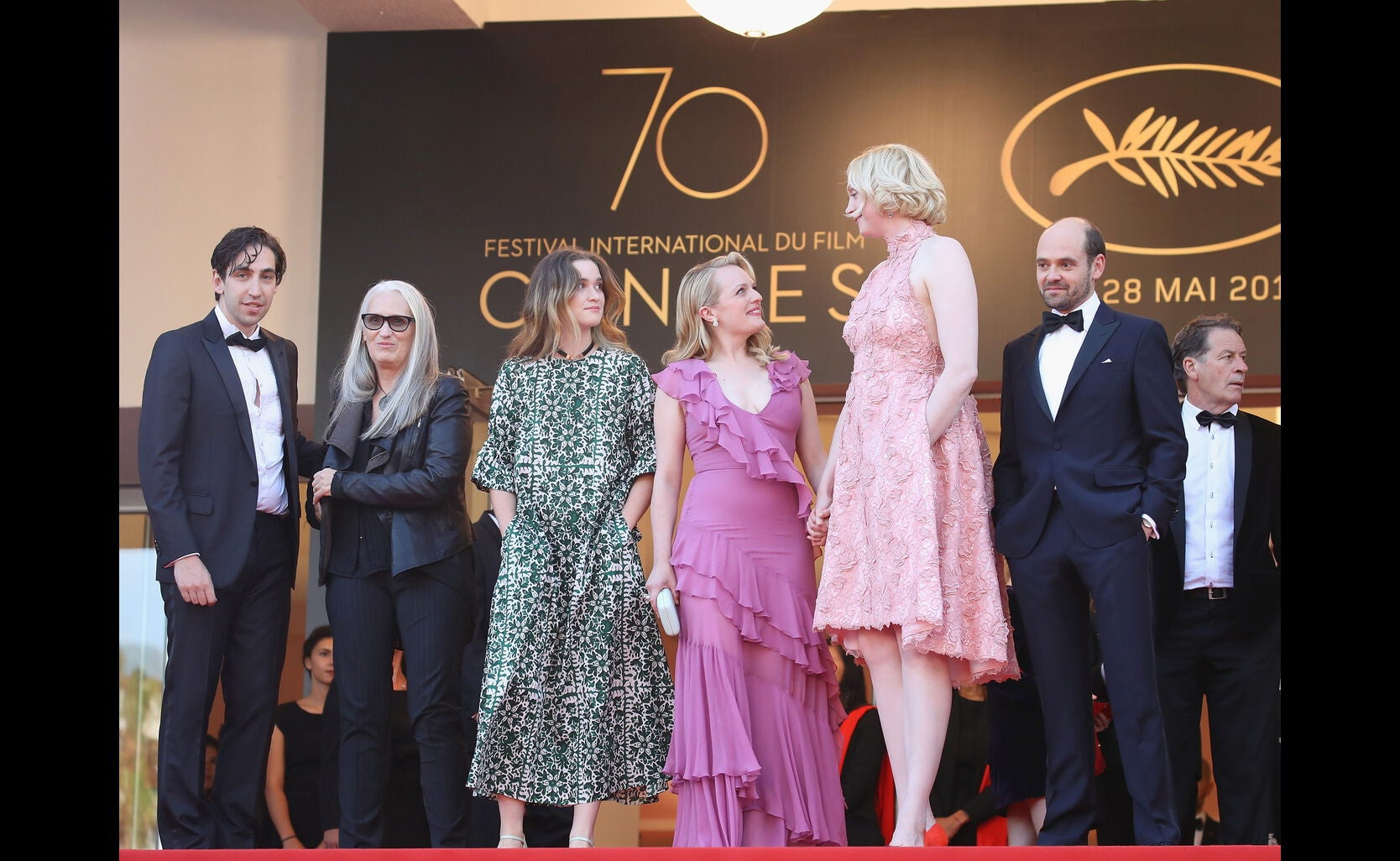 Ariel Kleiman, Jane Campion, Alice Engler, Elisabeth Moss, Gwendoline Christie and David Dencik
