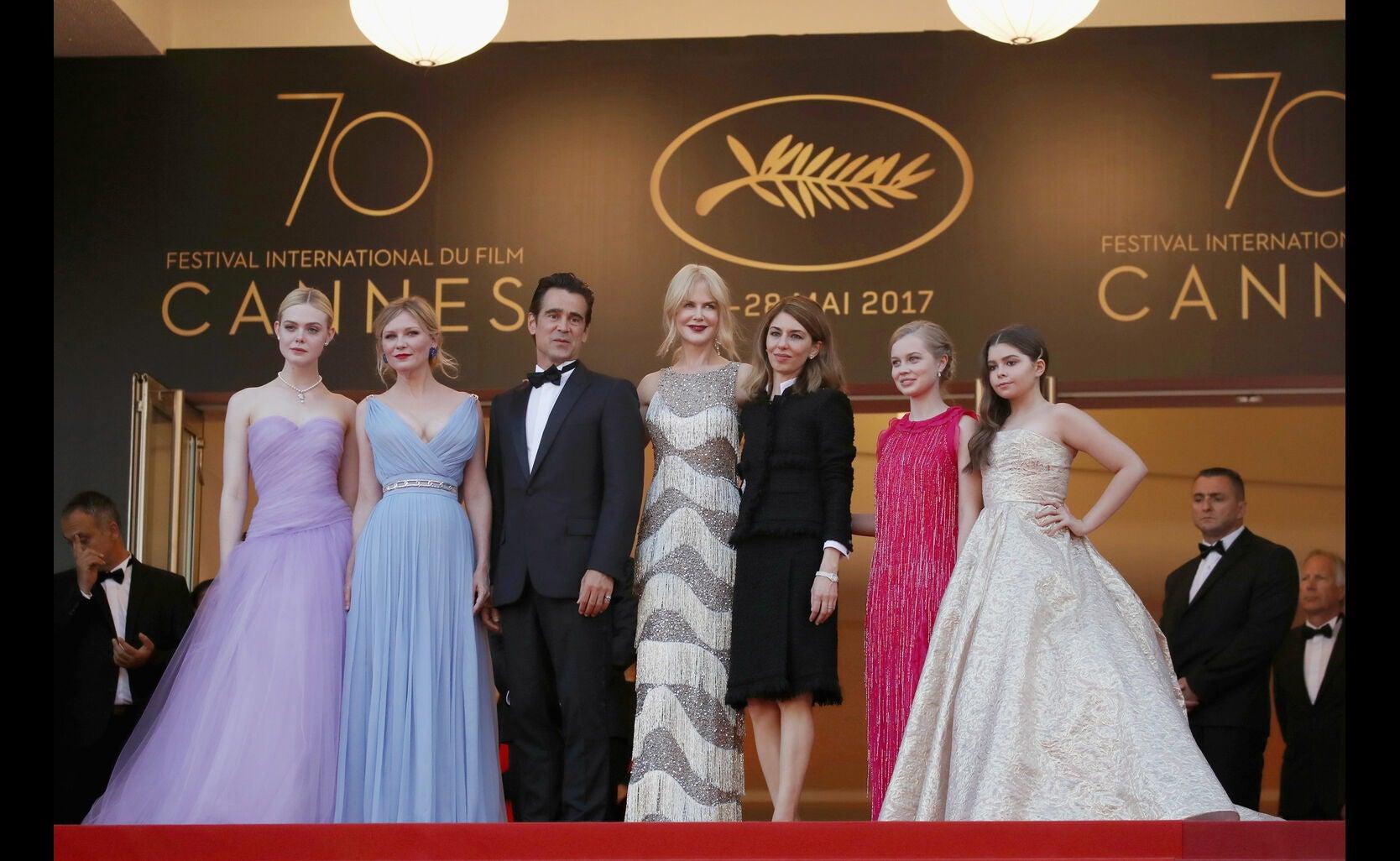 Elle Fanning, Kirsten Dunst, Colin Farrell, Nicole Kidman, director Sofia Coppola, Angousie Rice and Addison Riecke