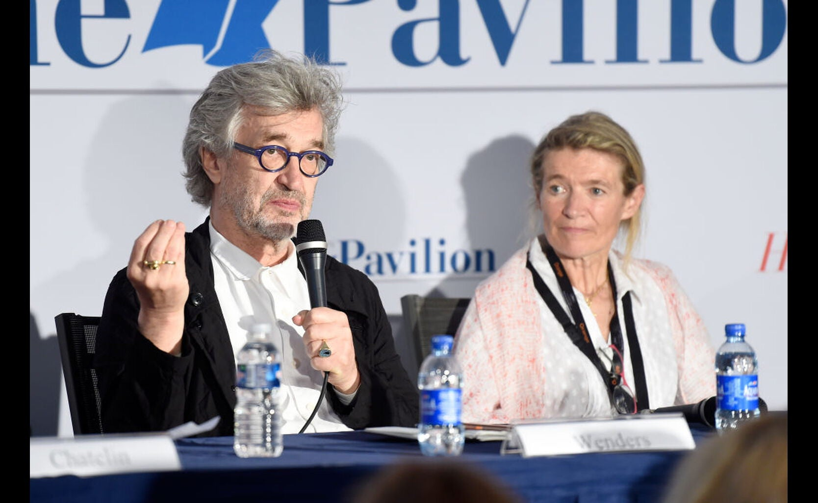 Director Wim Wenders and Anne Facerias, Founder Festival Sacre de la Beaut