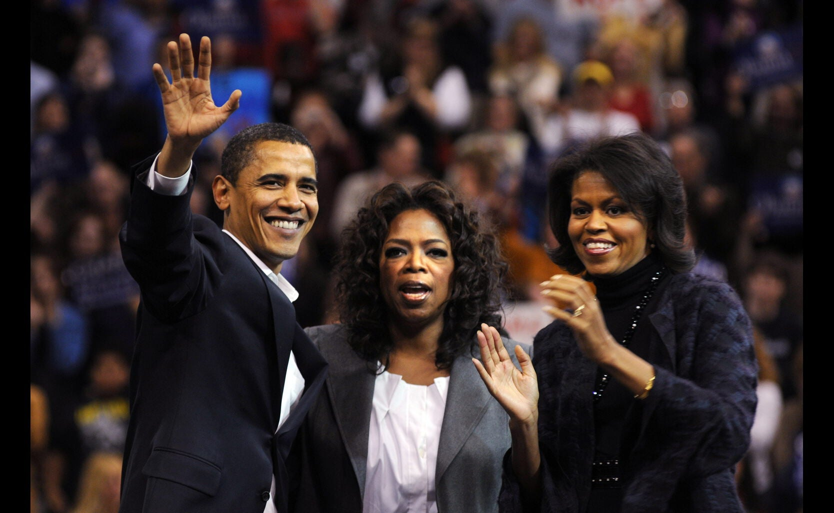 Oprah Winfrey in campaign with and for Barack Obama, 2007