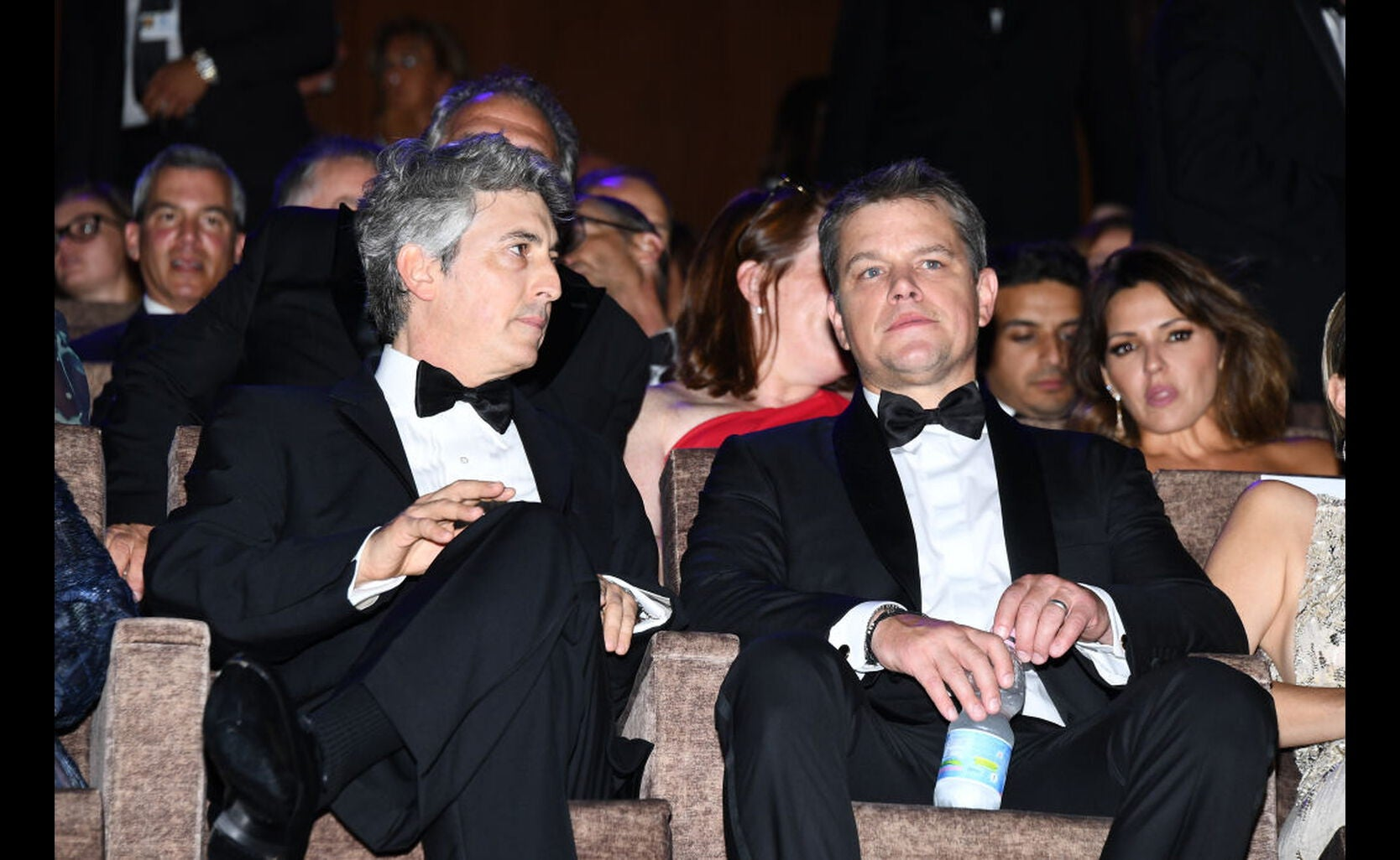 Director Alexander Payne and actor Matt Damon, Golden Globe winners, at the 2017 Venice Film Festival