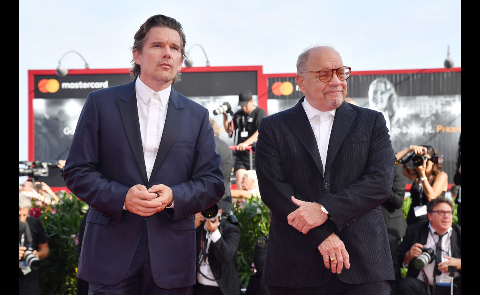 Filmmaker Paul Schrader and actor Ethan Hawke, Golden Globe Nominees