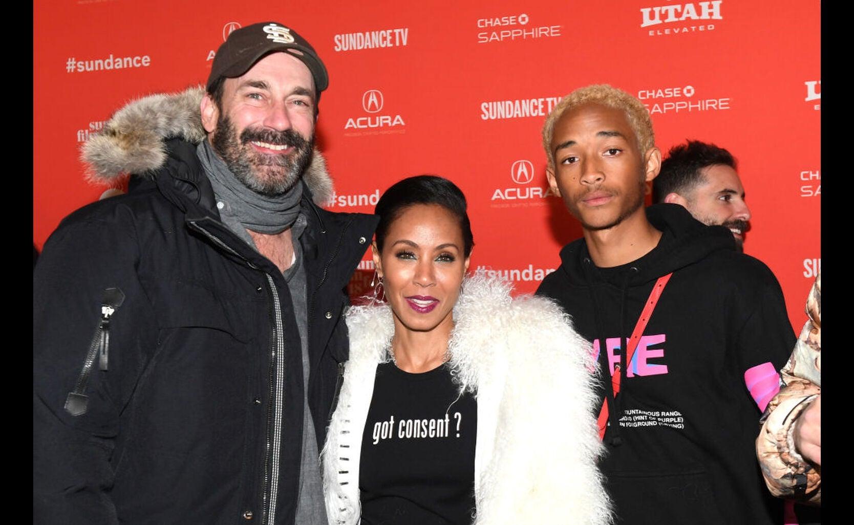 Jon Hamm, Jada Pinkett and Jaden Smith at Sundnace 2018