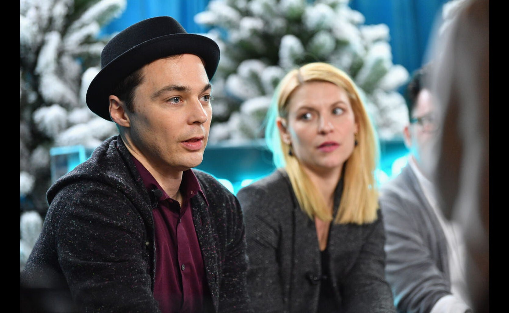 Actors Jim Parsons and Claire Danes
