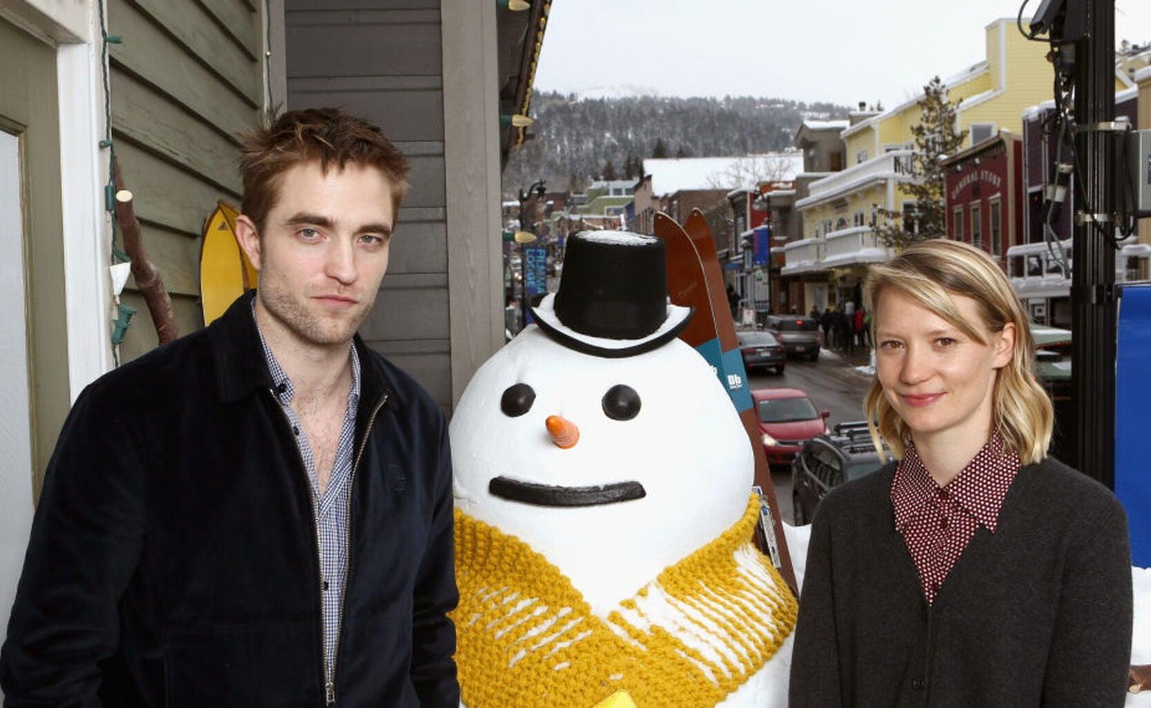 Actors Robert Pattinson and Mia Wasikowska