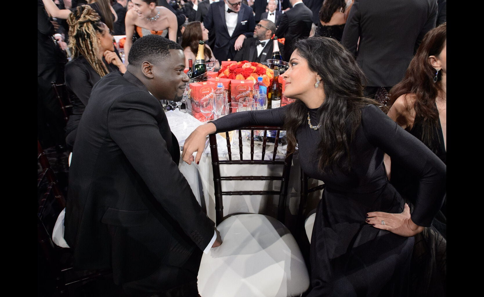 Daniel Kaluuya and Salma Hayek