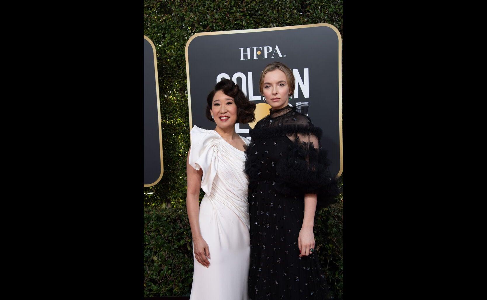 Sandra Oh and Jadie Comer