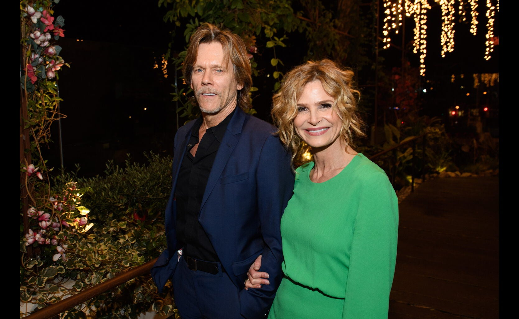Actors Kevin Bacon and Kyra Sedgwick at the Golden Globe Ambassador event