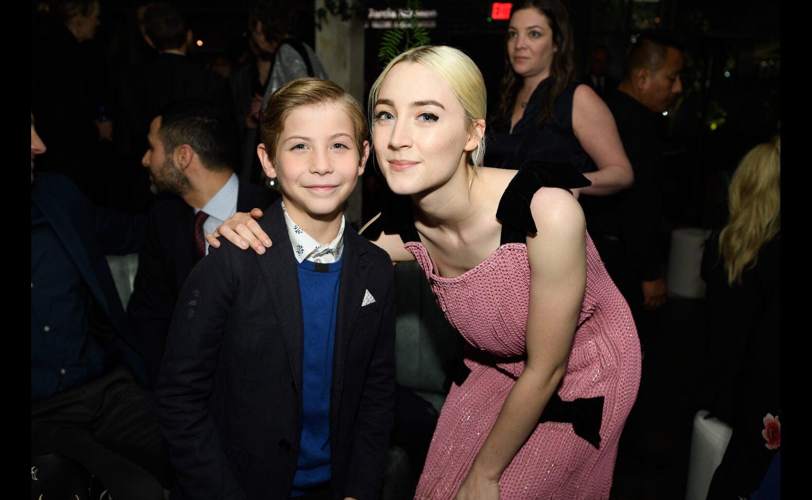 Jacob Tremblay and Saoirse Ronan at at the Golden Globe Ambassador 2018 event