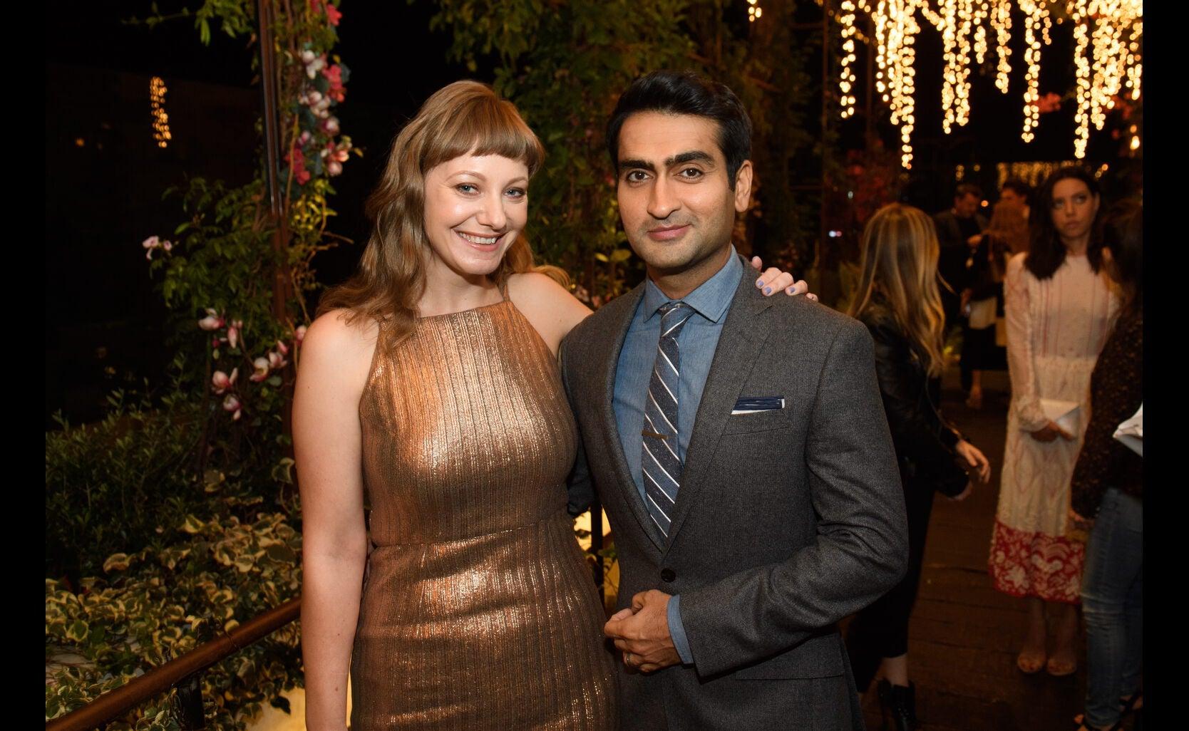 Kumail Nanjiani and Emily Gordon at the Golden Globe Ambassador 2018 event