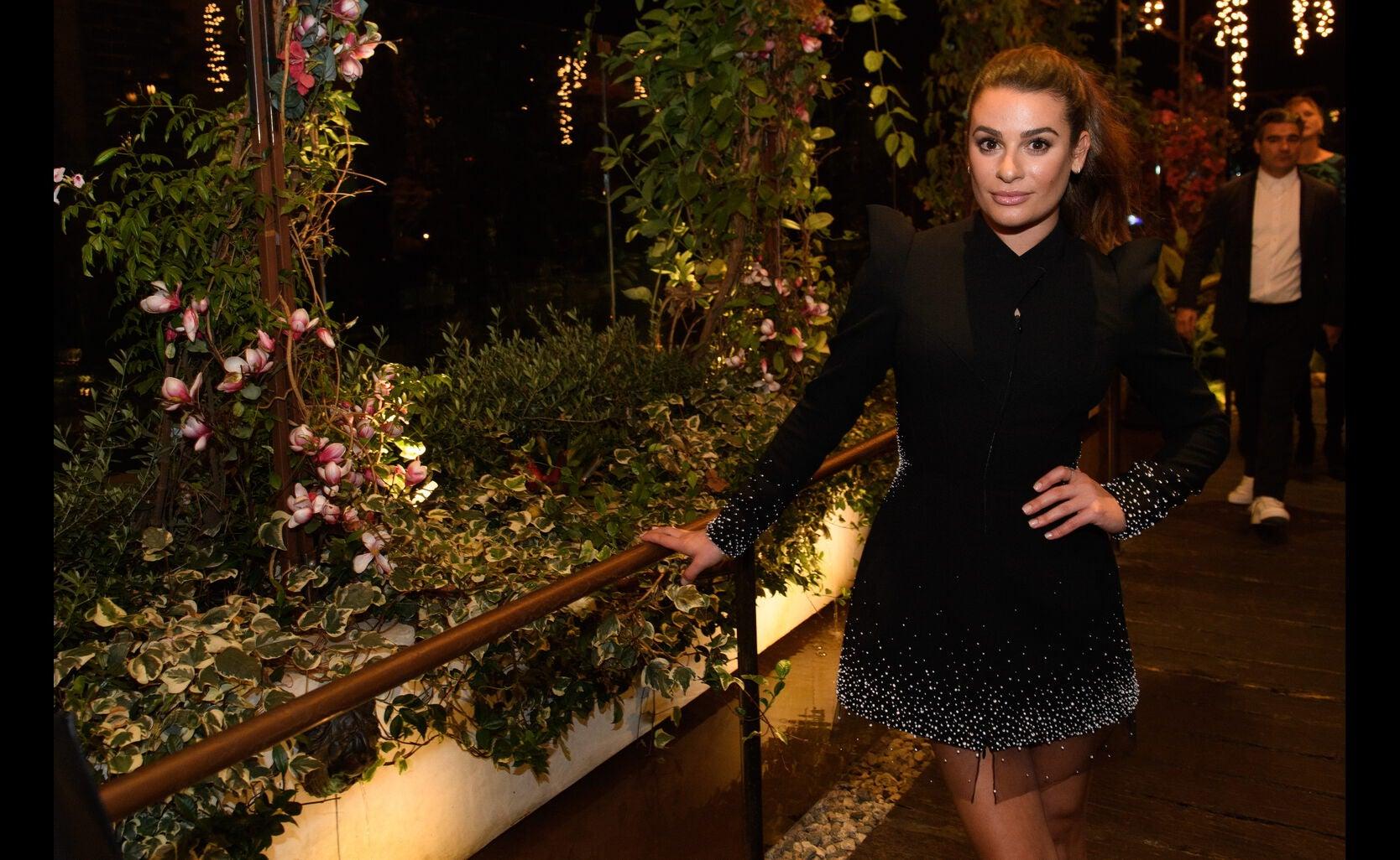 Lea Michele at the Golden Globe Ambassador 2018 event