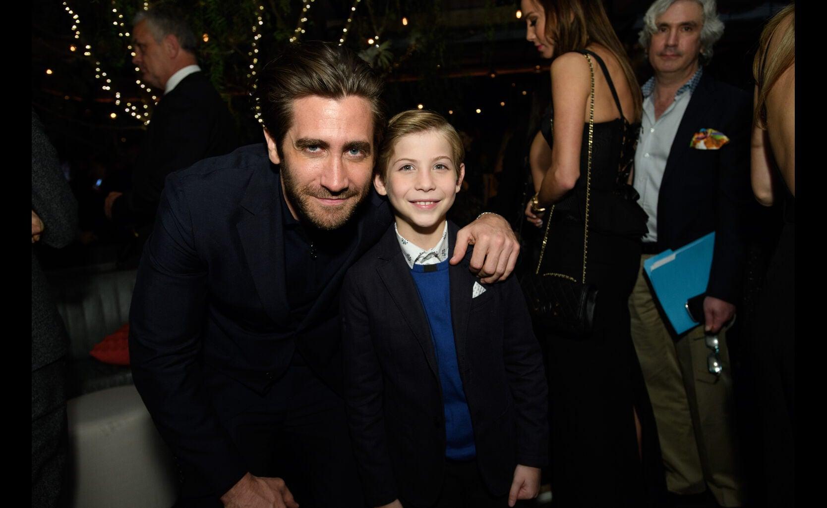 Jake Gyllenhaal and Jacob Tremblay at the Golden Globe Ambassador 2018 event