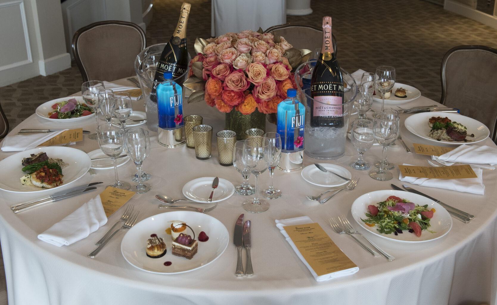 Table Setting for 74th Golden Globe Awards