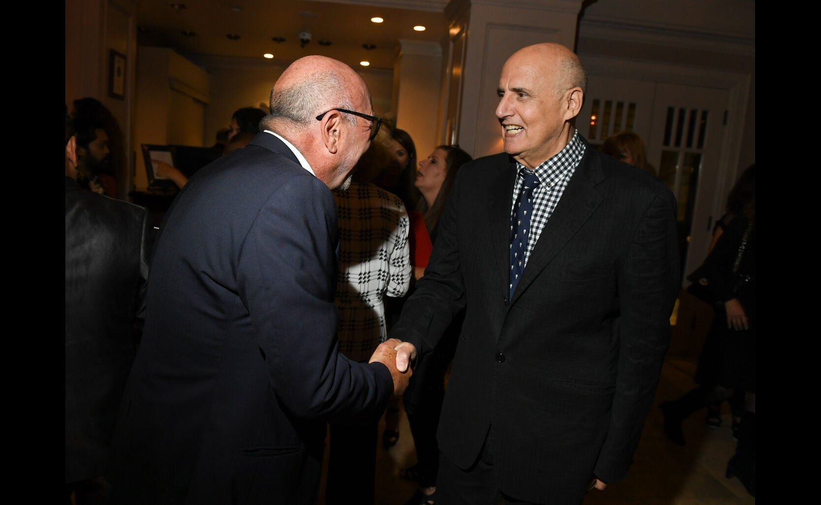 HFPA president Lorenzo Soria and director Golden Globe winner Jeffrey Tambor at the Toronto 2016 HFPA party