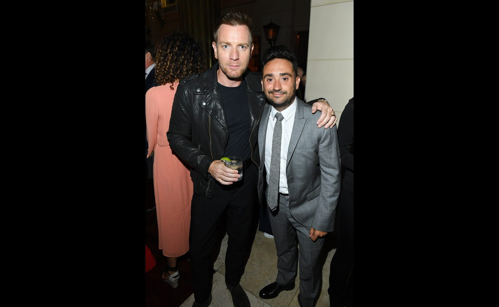 Golden Globe nominee Ewan McGregor and director J. A. Bayona at the HFPA/InStyle party, Toronto 2016