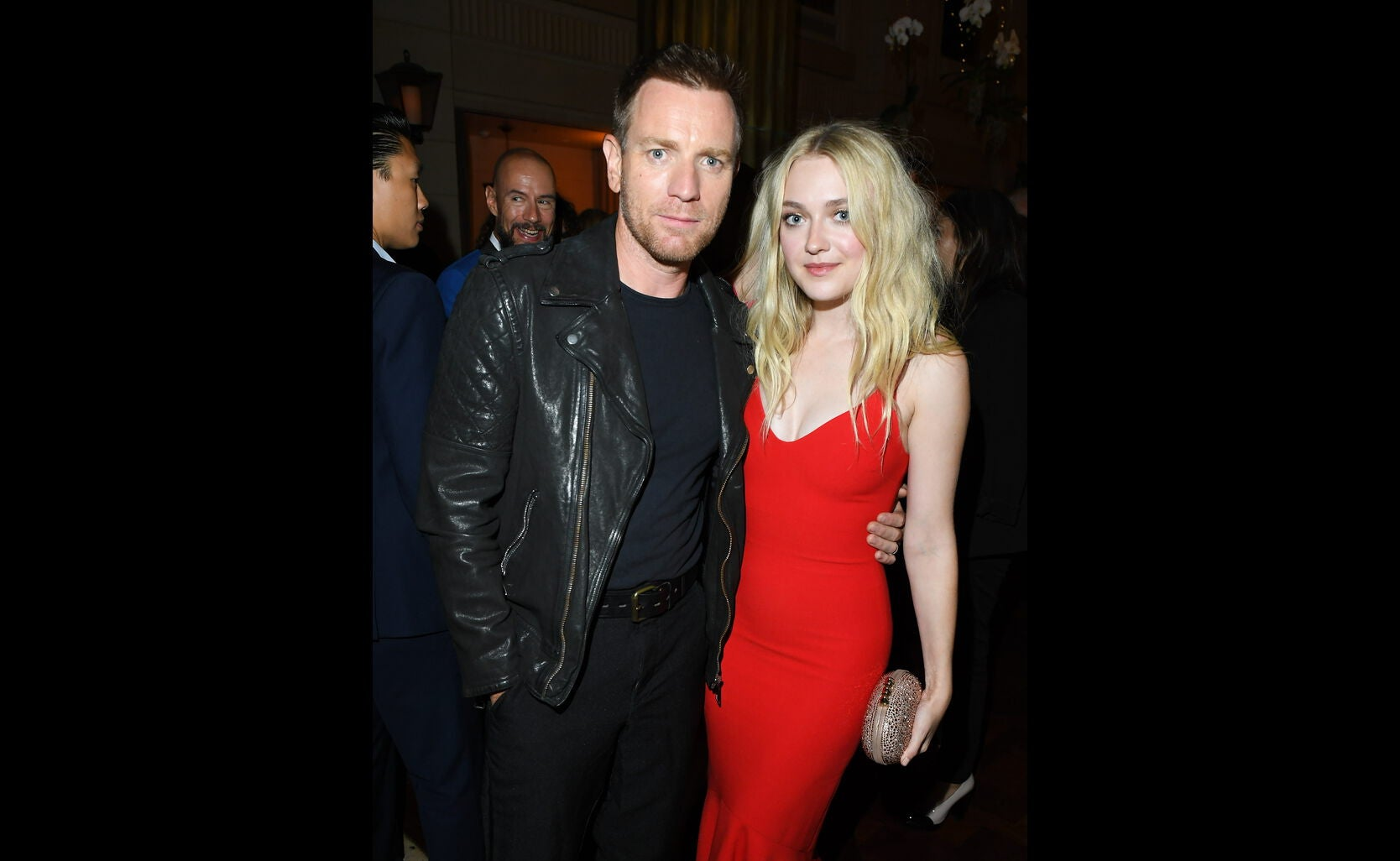 Golden Globe nominee Ewan McGregor and Dakota Fanning at the HFPA/InStyle party, Toronto 2016