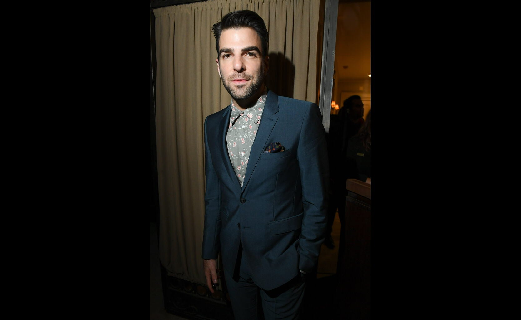 Actor Zachary Quinto at the HFPA/InStyle party, Toronto 2016