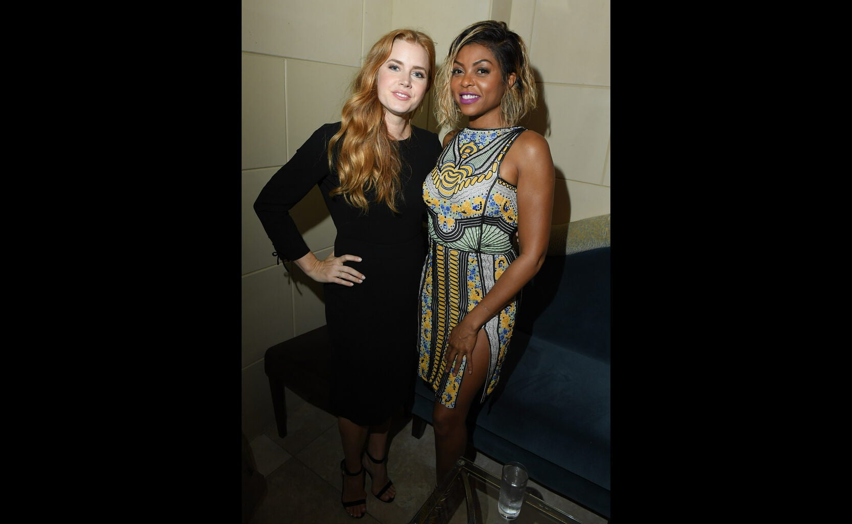 Golden Globe winners Amy Adams and Taraji P. Henson at the HFPA/InStyle party