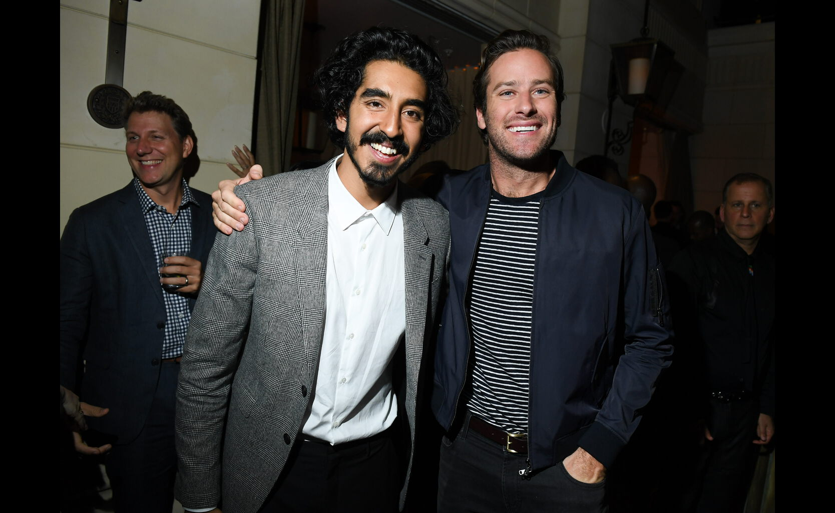 Dev Patel and Armie Hammer at the HFPA/InStyle party, Toronto 2016