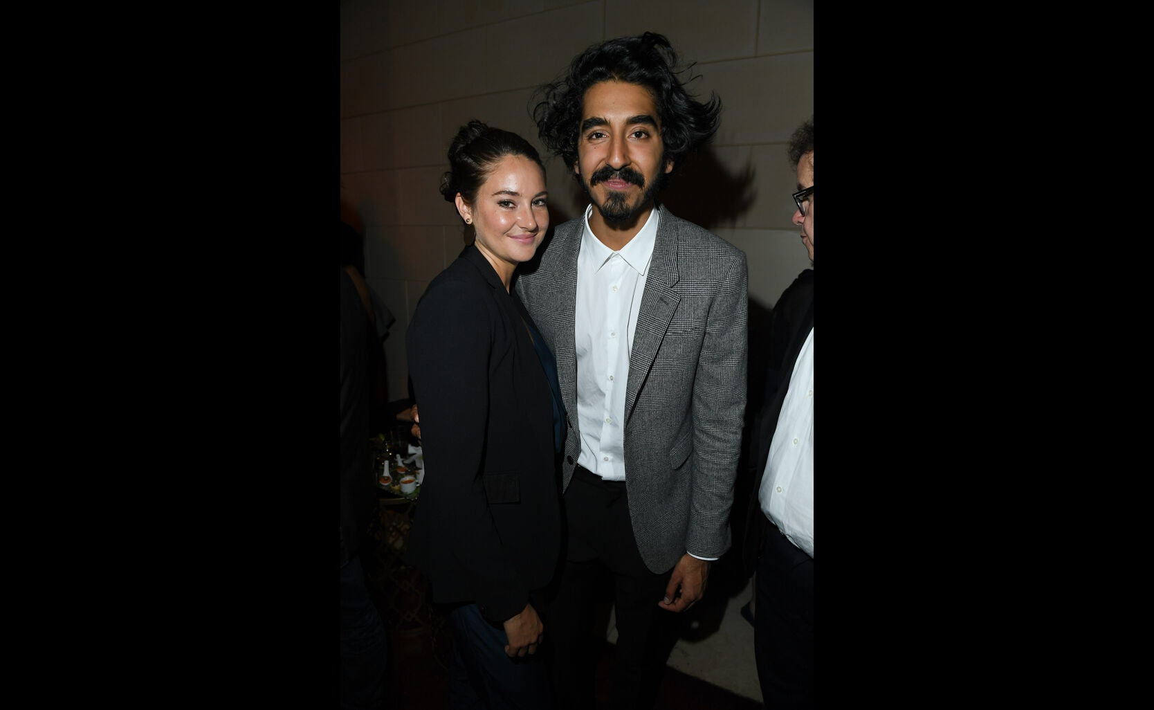 Golden Globe nominee Shailene Woodley and Dev Patel at the HFPA/InStyle party, Toronto 2016