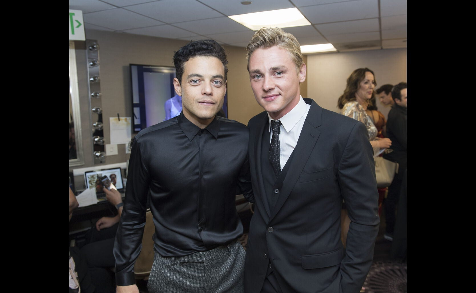 Rami amlek and Ben Hardy