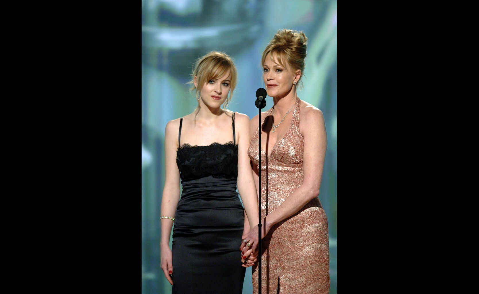 Actresses Dakota Johnson and Melanie Griffith