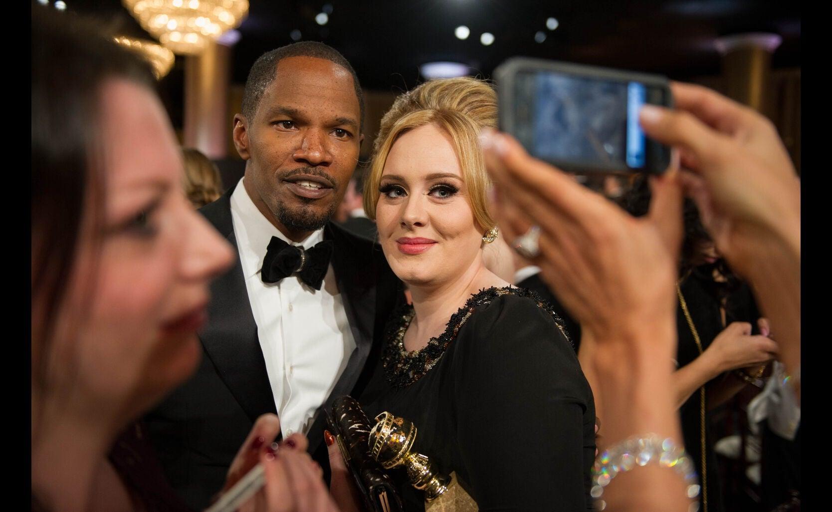 Adele and Jamie Foxx