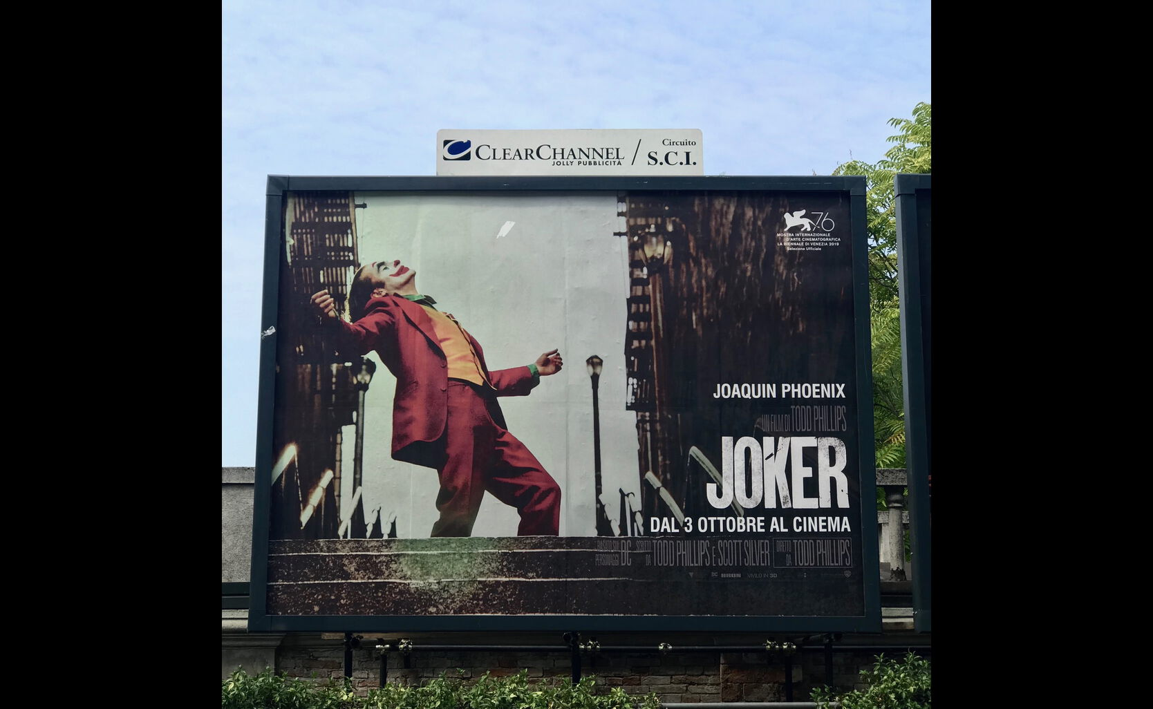 Joker outdoor in Venice 2019