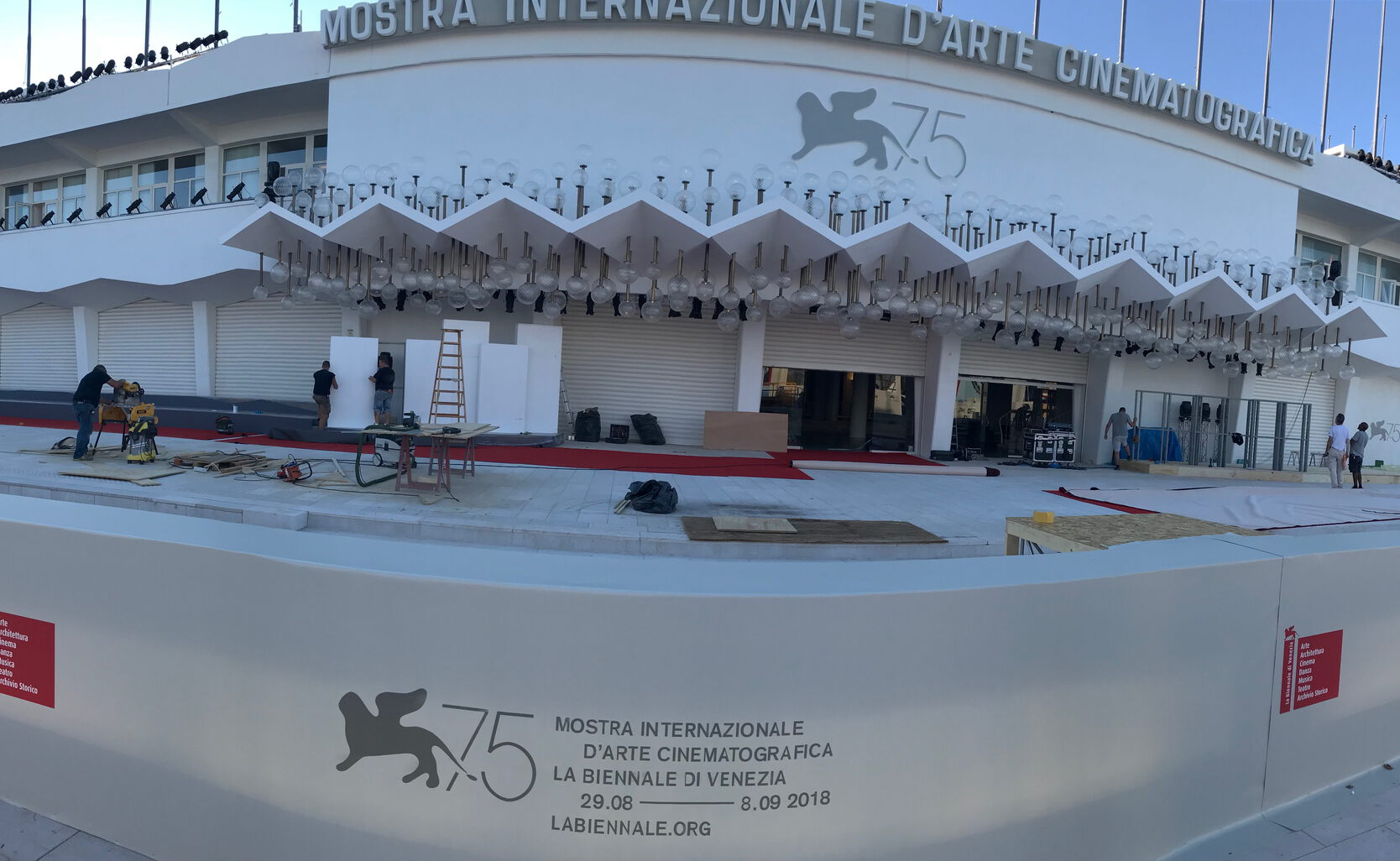 Preparation for the 75th Venice Film Festival