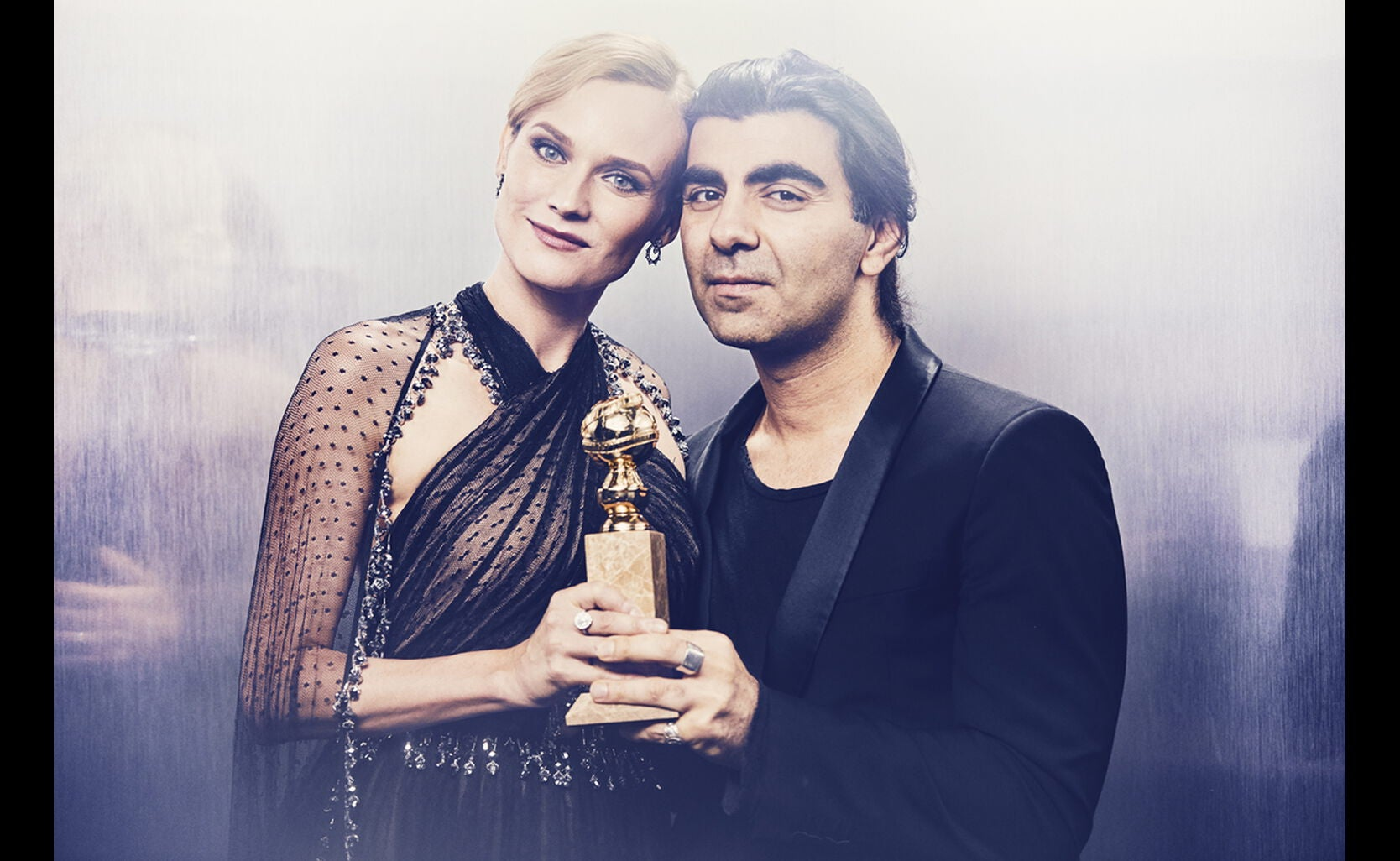 In The Fade, director Fatih Akin and star Diane Kruger, Best Motion Picture-Foreign Language