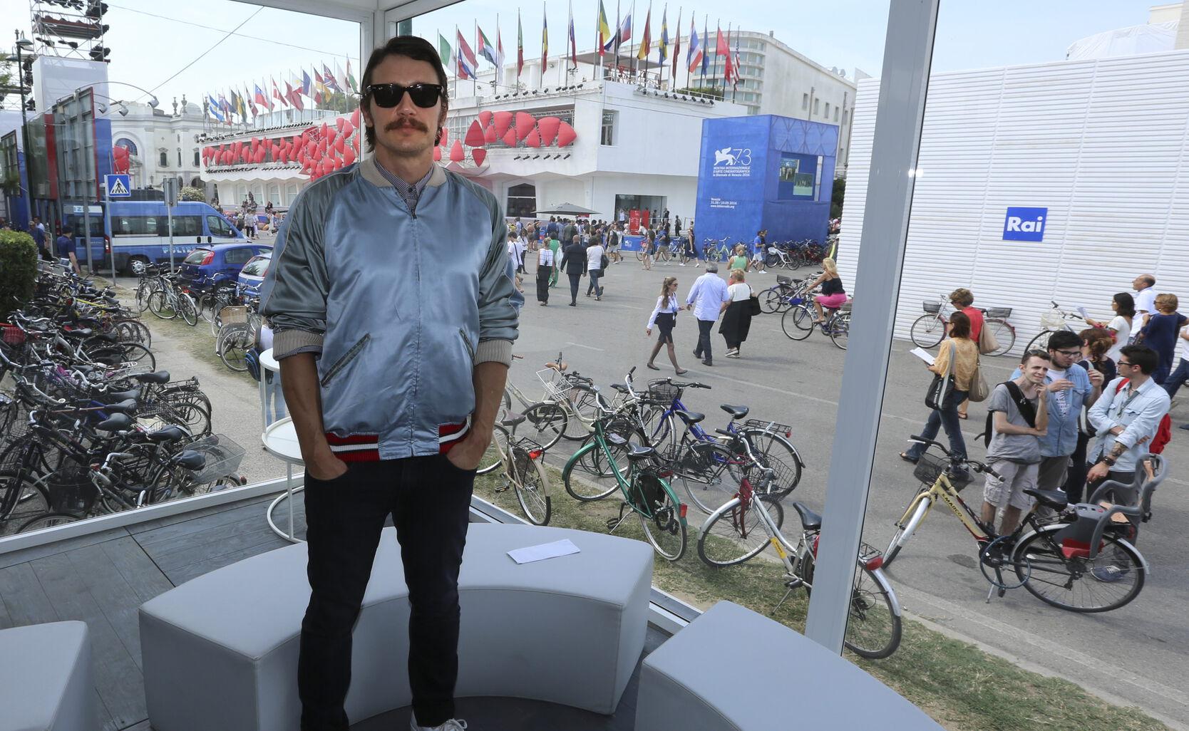 Actor-director James Franco, Golden Globe winner