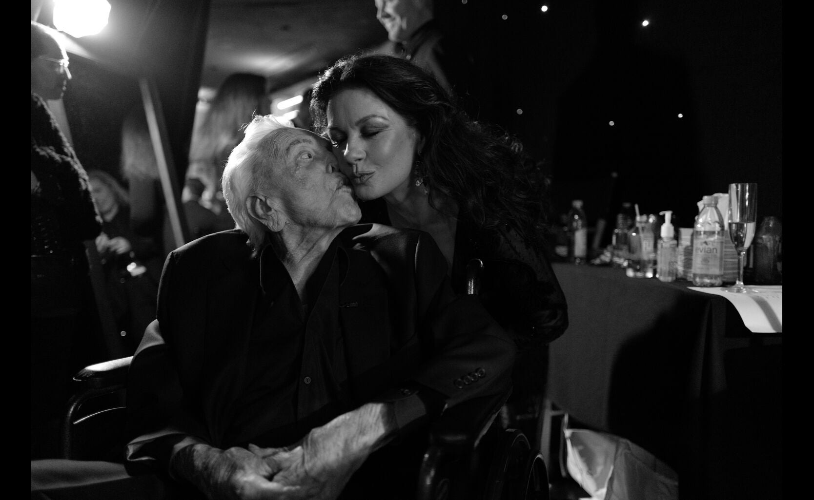 Kirk Douglas and Catherine Zeta Jones