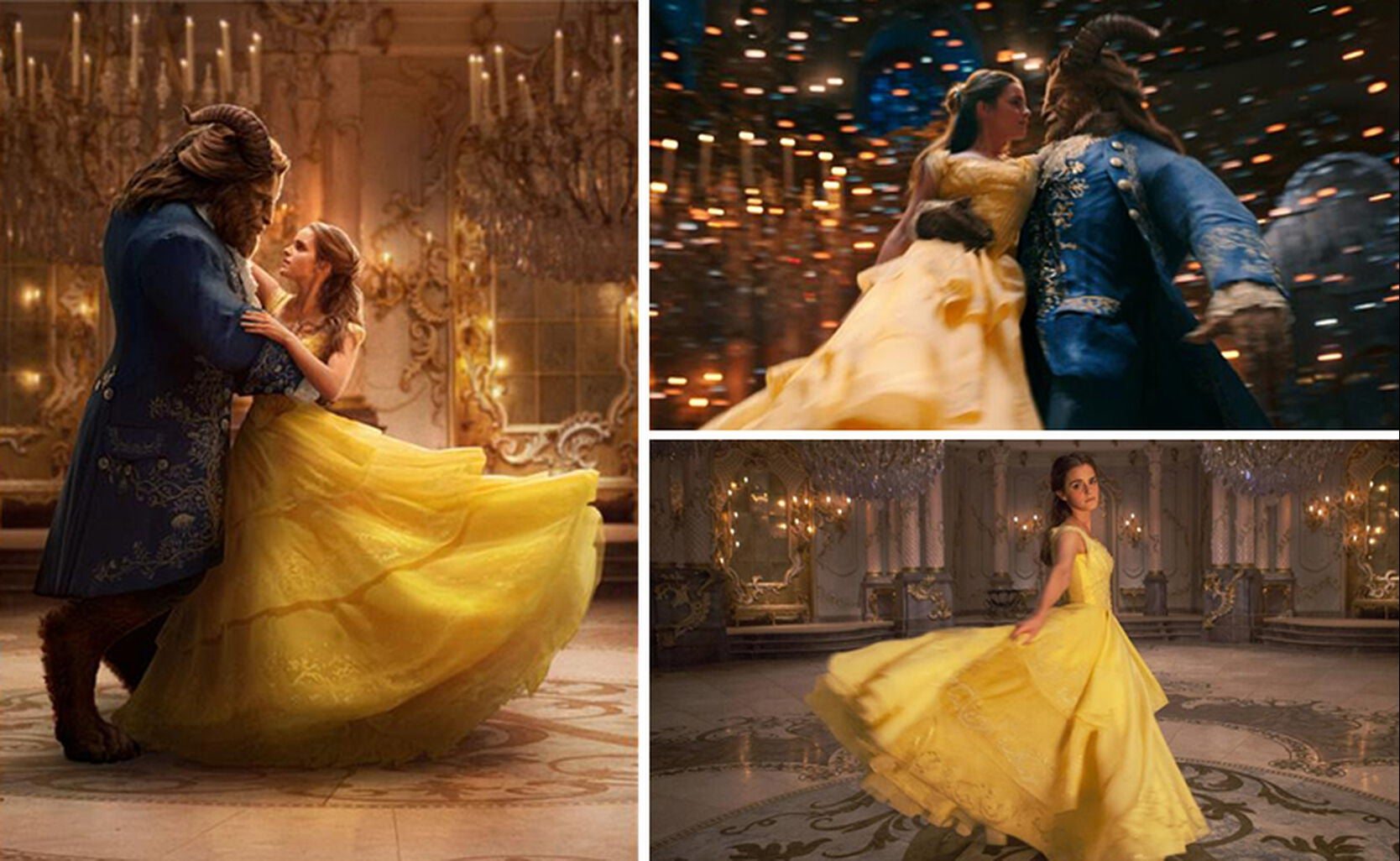 Scenes From Beauty And The Beast Movie With Emma Watson Dan Stevens