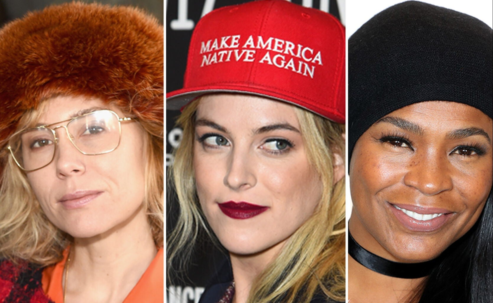 Lily Baldwin, Riley Keough and Nia Long show how to wear a hat.